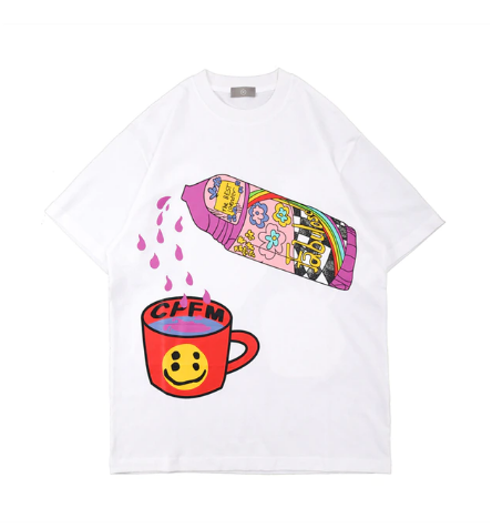 juice in the cup white tee